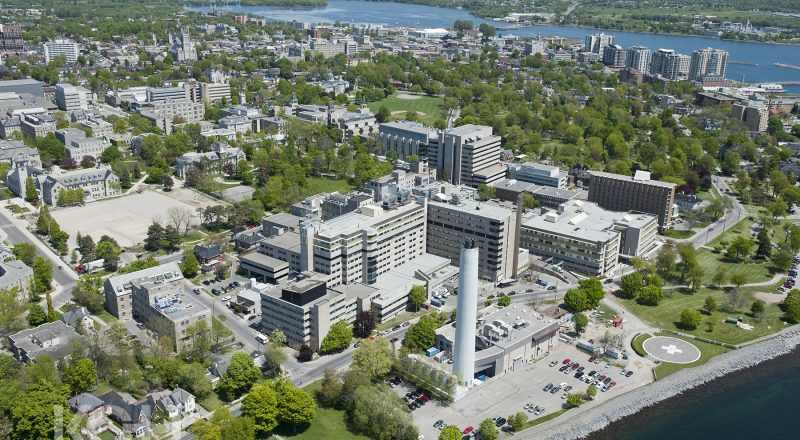 Aerial pictures of Kingston General Hospital.
